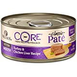 Wellness Core Natural Grain Free Wet Canned Cat Foods, Kitten Turkey & Chicken Liver, 5.5-Ounce Can,...