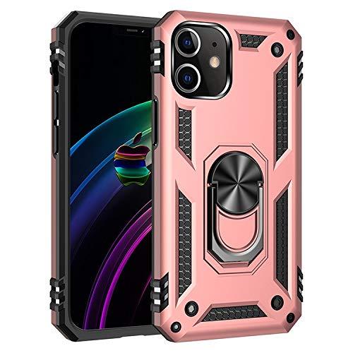 Caja del teléfono Teléfono 2020 para iPhone 12, 12mini, 12 Pro, 12 Pro MAX 5G 2020 Kickstand Metal Popular iPhone Rose Gold, Material : 12 Pro MAX 6.7in