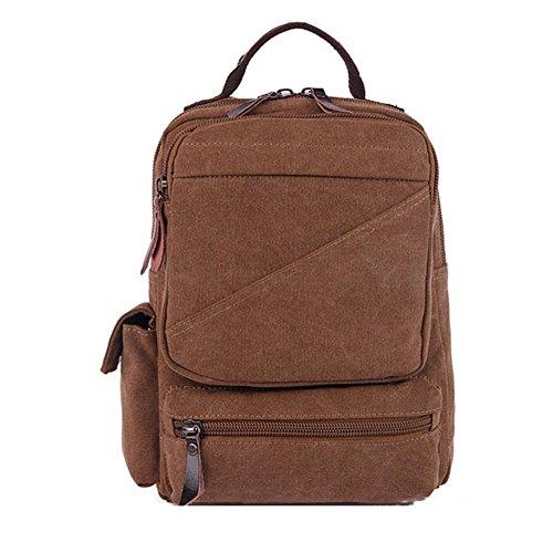 Sincere® la mode Fashion Backpack / Zipper Sacs à dos / Rue / Multifonction / Sac à dos / École de sac en toile / sac d'ordinateur casual / extérieur Voyage sac à dos-Brown 1