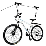 Bicycle Hoist Quality Garage Storage Bike Lift with 100 lb Capacity Even Works as Ladder Lift Premium Quality