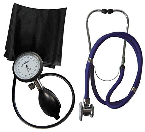 Blutdruckmessgerät Oberarm Profi Tiga Pro 1 Neuware K 1 + Rappaport blau Doppelkopf Stethoskop Tiga-Med