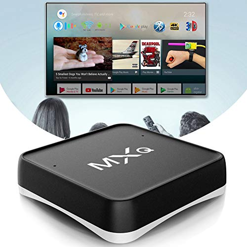 NZYMD TV Box Android 7.1 AML S905X Smart TV Box Diálogo de Voz Inteligente 2GB RAM 16GB ROM con 5G/2.4G WiFi Bluetooth 4.0 3D 4K HDR H.265 Ethernet 10/100M HDMI