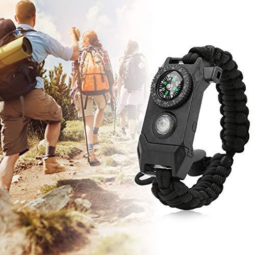 Bracelet de Survie Paracord Multifonctionnel de Survie avec Mini Lampe de Poche LED Whistl pour Le Camping en Plein air Alomejor Bracelet de Survie Paracord