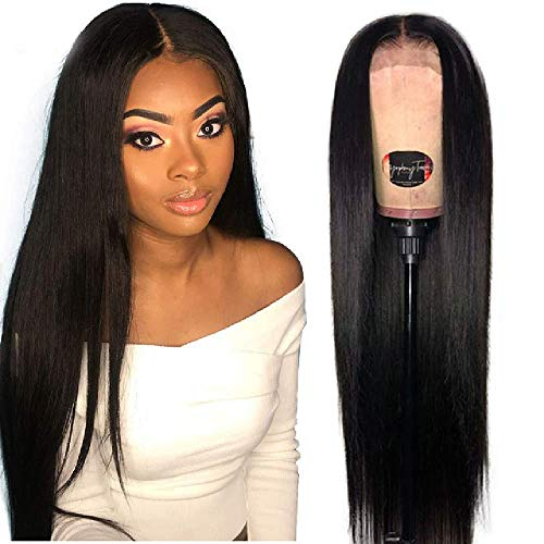 XYJJF Wig 180% Lace Frontal Human Hair Wigs 13X4 Pre Plucked Remy Brazilian Straight Lace Frontal Wigs With Baby Hair For Black Women
