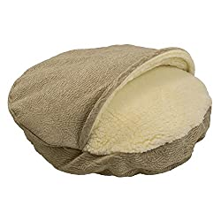 Snoozer Premium Micro Suede Cozy Cave Pet Bed in Piston Sand