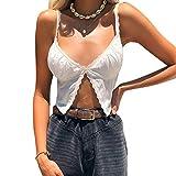 Onavy Crop Top Corto da Donna in Pizzo Canotta Sexy Ragazza con Cinturino Shirt Corto Sexy...