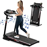 FYC Folding Treadmills for Home with Bluetooth and Incline, Portable Running Machine Electric Compact Treadmills Foldable for Exercise Home Gym Fitness Walking Jogging (JK1609)