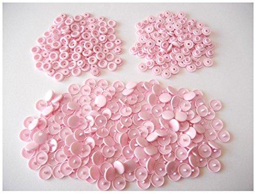 プラスチック スナップ ボタン プラスナップ 100組 12mm T5 (ピンク)