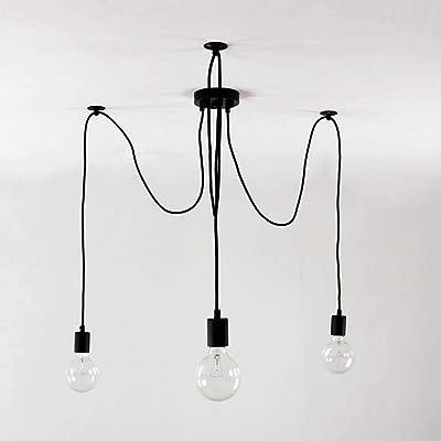 Lámpara de araña, lámpara de techo multi-testa de estilo ...