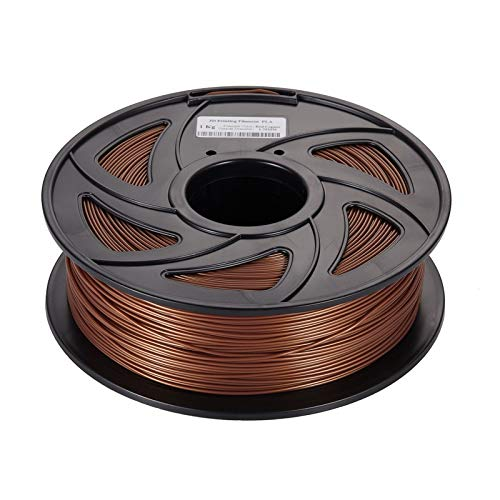 W.Z.H.H.H 3D-Druckerzubehör 20% Metall + 80% PLA 3D-Drucker Filament Metall PLA Filament 1.75mm Bronze Aluminium Aluminium Kupfer Impressora 3D Filamento (Color : 100g Brass, Size : Kostenlos)