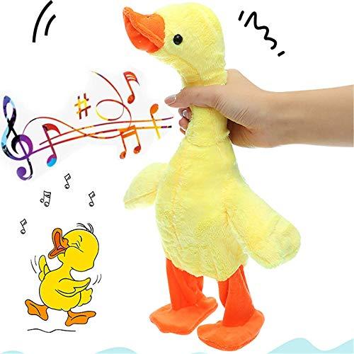 Pato Que Habla y Que Camina, Juguete electrónico del Pato graznido Musical de Felpa, Pato Musical graznido con música, Regalo de Fiesta Interactivo para niños, niñas y niños