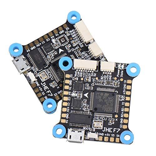 Domilay Controlador de Vuelo Dual Gyro F7 AIO OSD 5V 8V BEC y Caja Negra 30.5X30.5Mm para RC Drone FPV Multicopter de Carreras Repuestos