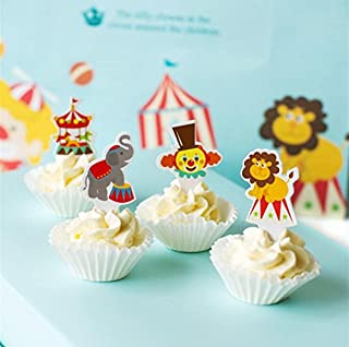 100 Pcs Circus Cake Cupcake Decorative Cupcake Topper for Kids Birthday Party Themed Party Baby Shower