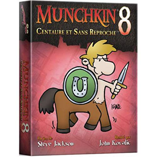 Asmodee UBIMU08, Juego de Cartas, Munchkin 8, Centaure et Sans Reproche