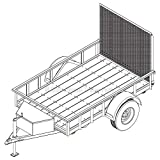 5′ x 8′ Utility Trailer Plans – 3,500 lb Capacity | Trailer Blueprints Model U60-96-35J