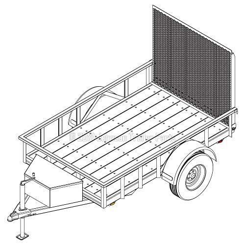 5′ x 8′ Utility Trailer Plans – 3,500 lb Capacity   Trailer Blueprints Model U60-96-35J