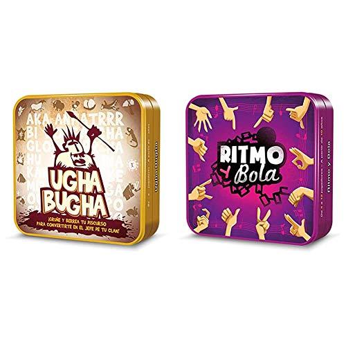 Cocktail Games- Ugha Bugha (Asmodee CGUG0001) + Ritmo y Bola - español. (Asmodee ADECGRI0001)