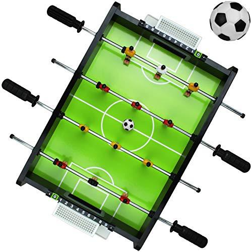 Dunlop Tischfußball Mini für Kinder Tischkicker mit 2 Bälle Kicker Tisch Fußball Kickertisch Tischkickerfußball Fußballtisch
