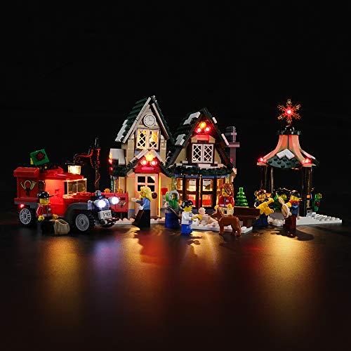 BRIKSMAX Kit de Iluminación Led para Lego Creator La Oficina de Correos del Pueblo,Compatible con Ladrillos de Construcción Lego Modelo 10222, Juego de Legos no Incluido