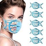 Soporte de Cara 3D, Marco de Soporte Interno para protección Facial y portadores de Gafas, Reutilizable Lavable translúcido, máscara de Silicona Marco de Apoyo Interior