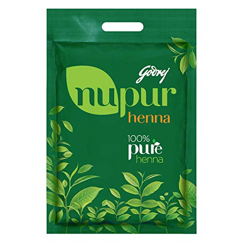 Godrej Nupur Henna Mehndi for Hair Color with Goodness of 9 Herbs 0, natural, 14.1 Ounce