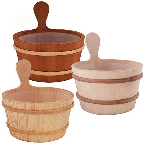 SAWO Sauna Seau en bois avec insert en plastique; Pin, Aspen ou Cèdre; 3L ou 4L