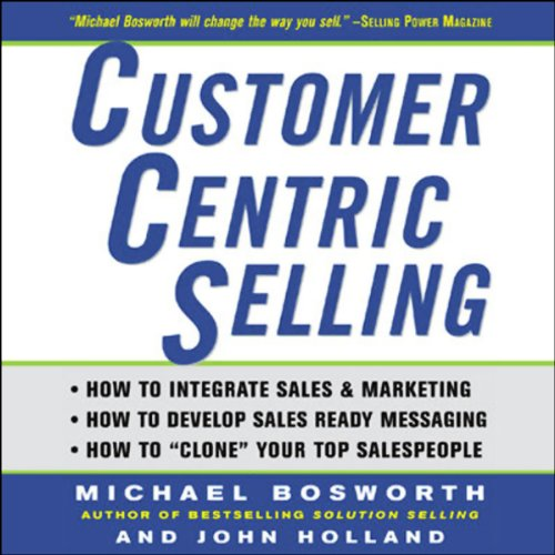 CustomerCentric Selling audiobook cover art