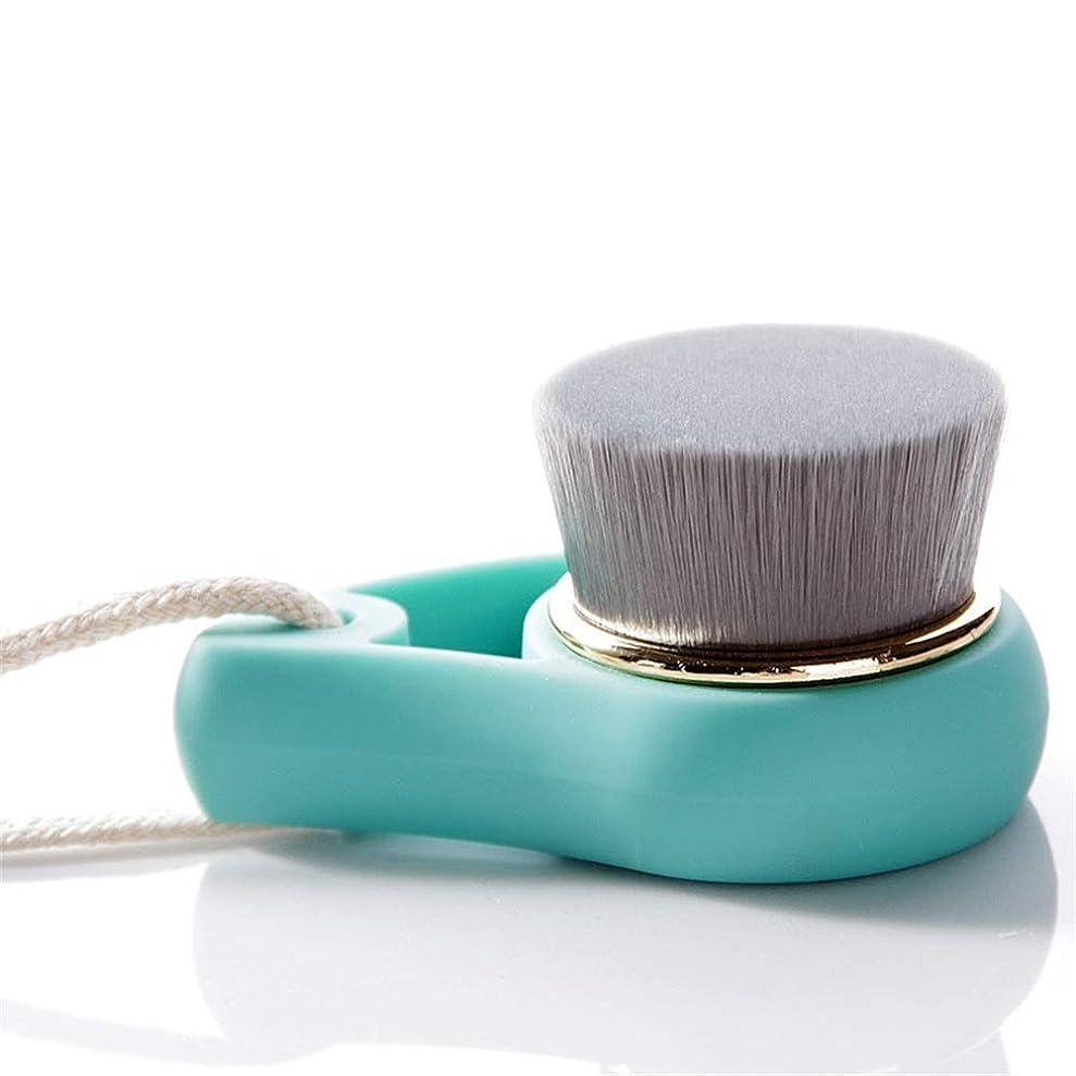 曲がった小競り合いシャー洗顔ブラシ ソフト剛毛フェイスクリーニング美容ブラシ女性のクレンジングブラシ ディープクレンジングスキンケア用