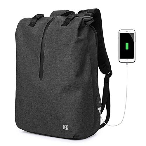 Hotlion PCリュック メンズ 大容量 15.6インチ USBポート付き ビジネス リュック 防水 通勤 出張 通学 男女兼用