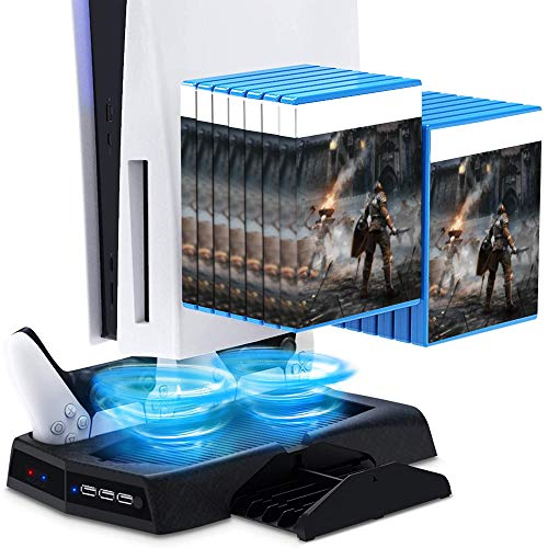 [Amazon] PlayStation 5 Console Cooling Fan Dual sense charge Station 3 USB Hubs with Coupon YNFF3G9L ($26.8/50% Off)
