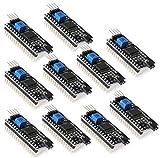 KKHMF 10PCS 1602 LCD ブラック IIC/ I2C / TWI