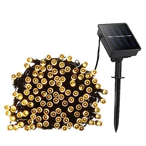 XKJFZ Solar Luces de Cadena Impermeable 200 LED de Cuerda Solar de la lámpara con la lámpara 8 Cuerdas Modos Hada Decorativa para el jardín Blanco cálido, jardín Iluminación Solar