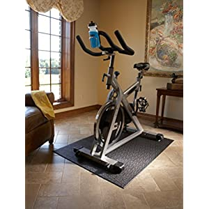 Supermats Heavy Duty Equipment Mat 10GS Made in U.S.A. for Indoor Cycles Recumbent Bikes Upright Exercise Bikes and Steppers (3 Feet x 4 Feet) (36 in x 48 in) (91.44 cm x 121.92 cm)