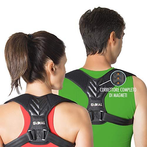 Sadial7-Haltungskorrektur - Magnetotherapie - MEDIZINISCHES GERÄT - für geraden Rücken - Für eine gesunde Haltung ohne Rückenschmerzen - Schultergurt