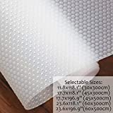Hersvin Shelf Liners, 23.6x118.1 Inch EVA Non-Slip Non-Adhesive Drawer Mats, Cupboard Pad, Kitchen Cabinet Lining Fridge Cushion for Home Office (Clear/Dot, 60x300cm)