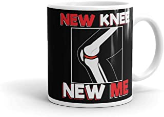 Coffee Mug Knee Surgery Recover Quote Gift - New Me .VERSION #2