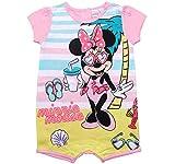 Minnie Mouse Kollektion 2018 Strampelanzug 62 68 74 80 86 92 Strampler Kurz Einteiler Maus Disney Rosa (Rosa, 68)