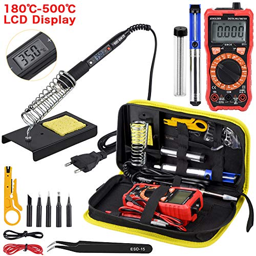 Great Features Of XNJHMS Soldering Iron kit with Digital multimeter 6000 Counts Auto Ranging AC/DC V...