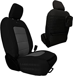 Bartact JLAC2018FP - 2018 Front Seat Covers (Pair) Jeep Wrangler JL JLU 4 Door - All Models with and w/o SRS air Bags (Black/Graphite)