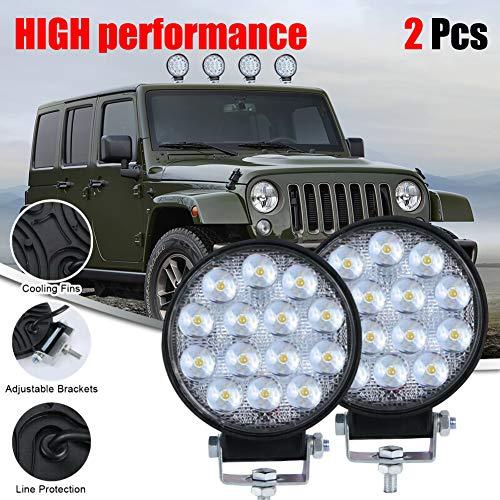 KaTur 4 Pods LED Rock Luces Kit Impermeable Underglow LED Neon Trail Rig Luces para Jeep Truck ATV UTV Baja Raptor Offroad Barco Trail Rig L/ámpara bajo Cuerpo Glow Blanco
