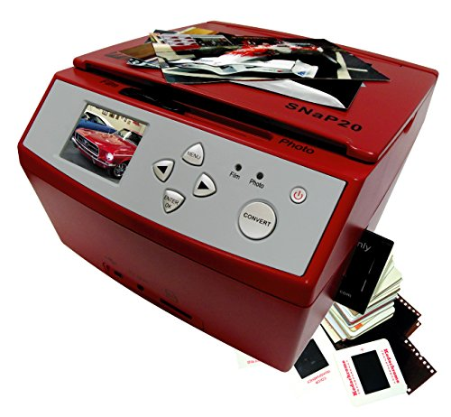 Buy Wolverine SNAP20 20 Megapixels 35mm Slides Negatives and Photo to Digital Image Converter, Red