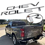 JOJOMARK Tailgate Inserts Letters Compatible for Silverado 1500 2500 HD 2019 2020 2021 Accessories Rear Inlays Emblem Decals (Chrome Silver)