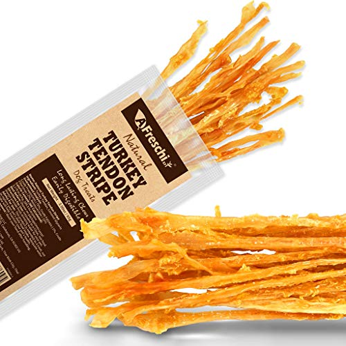 AFreschi Turkey Tendon Twists for Dogs, Premium All-Natural, Hypoallergenic Dog Chew Treat, Easy to Digest, Alternative to Rawhide, Ingredient Sourced from USA. Pack of 1, 3 oz