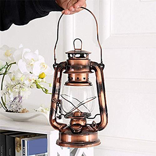 ZY Camping Lichter Camping Leuchten und Laternen wiederaufladbare Licht Retro-Art-bewegliche Beleuchtung Kerosin-Lampe Outdoor-Camping-Zelt-Lampen-Metall-Camping-Licht-Haushalt Notlampe LOLDF1