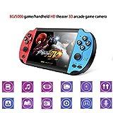 NUOLANDE Handheld Spielekonsolen, 8 GB/TF-Karte Erweiterung/Built-In 10000 Spielen/Retro Arcade IPS HD PSP tragbaren PS Dual-Joystick Spielkonsole