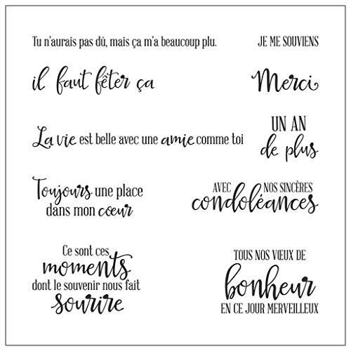 AIUI Tampon Alphabet français DIY Silicone Clear Stamp Seal Scrapbook Embossage Album Décor