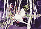 Doves in White Birches Deluxe Boxed Holiday Cards (Christmas Cards, Greeting Cards)