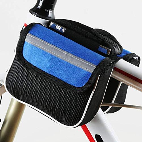Piero 1PC Duurzame fiets met grote capaciteit Fietsmand Waterdichte buis Stuurtas Outdoor-accessoires, blauw