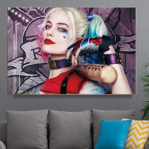 Puzzle 1000 Piezas Película de imágenes artísticas de Harley Quinn Loca Puzzle 1000 Piezas paisajes Gran Ocio vacacional, Juegos interactivos familiares50x75cm(20x30inch)