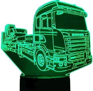 SCANIA R450 Rimorchio in tufo (8), Lampada illusione 3D con LED - 7 colori.